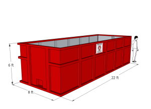 30 yard Roll-off Container