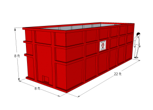 40 yard Roll-off Container