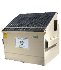 Commercial recycling container