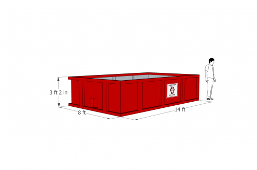 12 yard Roll-off Container
