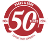 Parks & Sons 50 Years logo